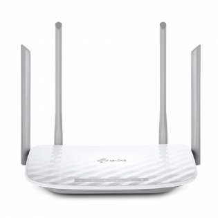 ROTEADOR WIRELESS 1200MPS GIGABIT DUAL BAND 867MPS 5GHZ E 300MPS 2.4GHZ 4 ANTENAS TP-LINK ARCHER C5